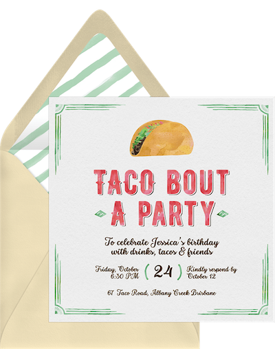 Party theme ideas: Taco bout a party