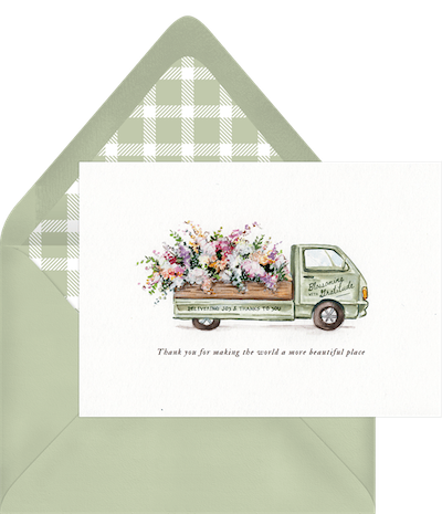 Blooming With Gratitude Thank You Card