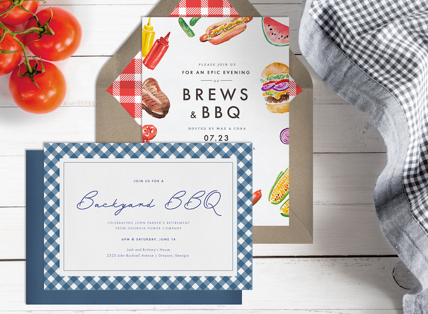 two kinds of BBQ invitations