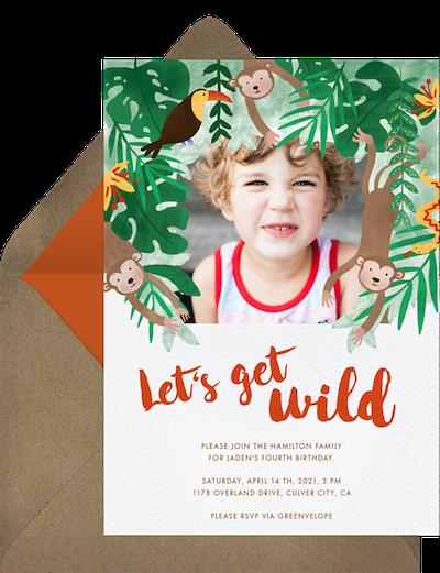 Jungle wild invitation