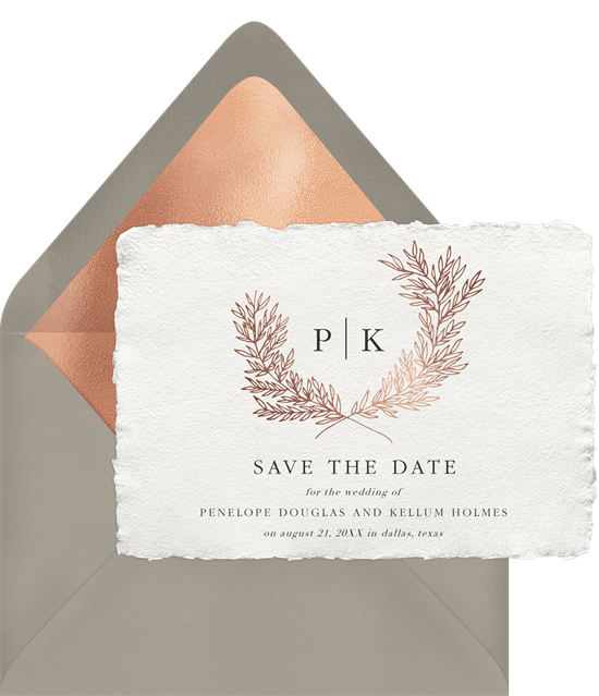 save the date postcards: Distinguished Monogram Save the Date by Greenvelope