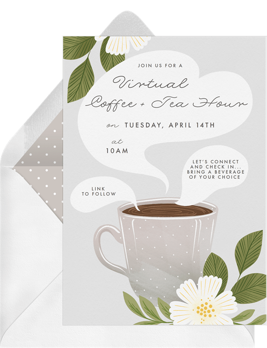 remote team building activities: Coffee Hour Invitation by Greenvelope