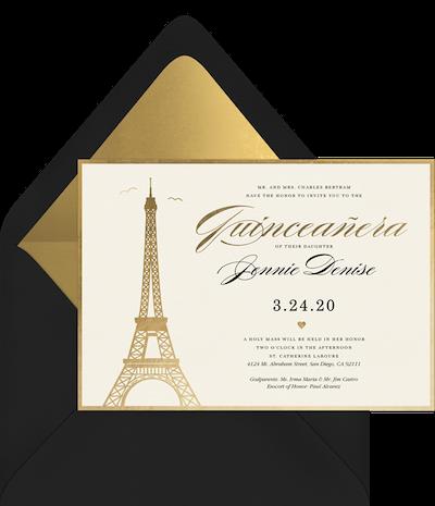 quinceanera themes: Paris-Themed Quinceañera