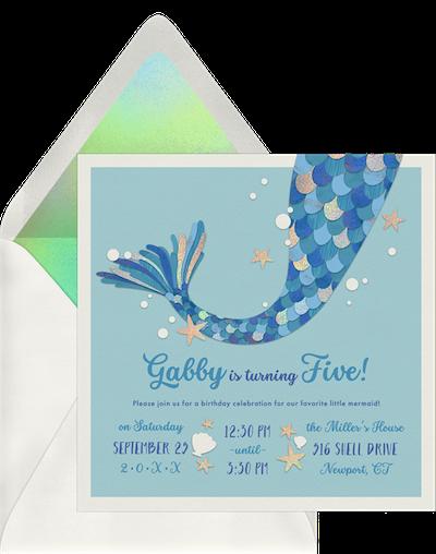 Party theme ideas: Mermaid magic invitation