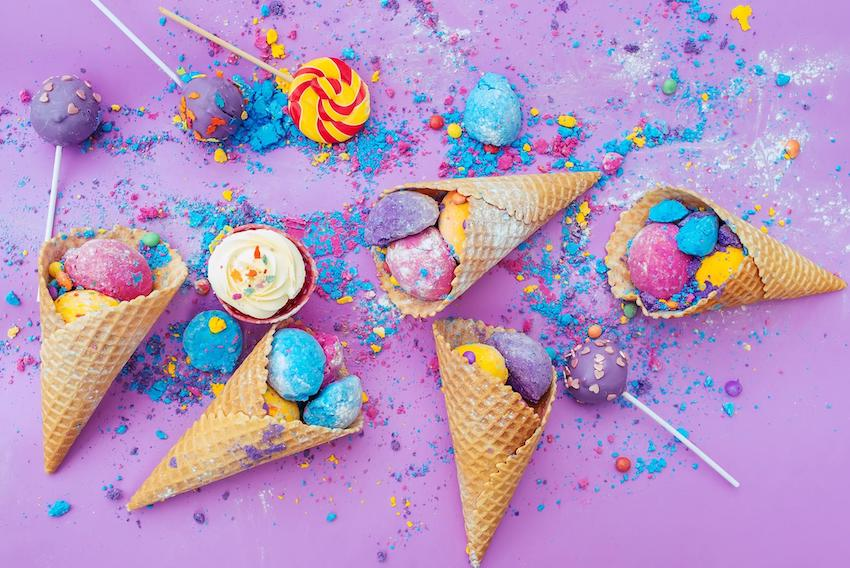 Party theme ideas: Ice creams and lollipops