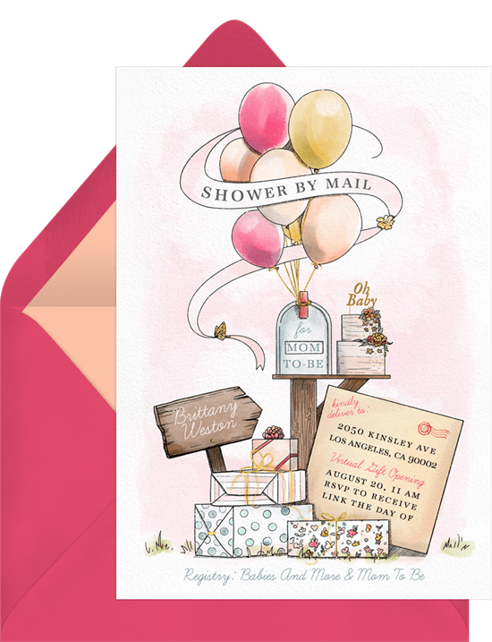 virtual baby shower ideas: Shower By Mail Invitation by Greenvelope