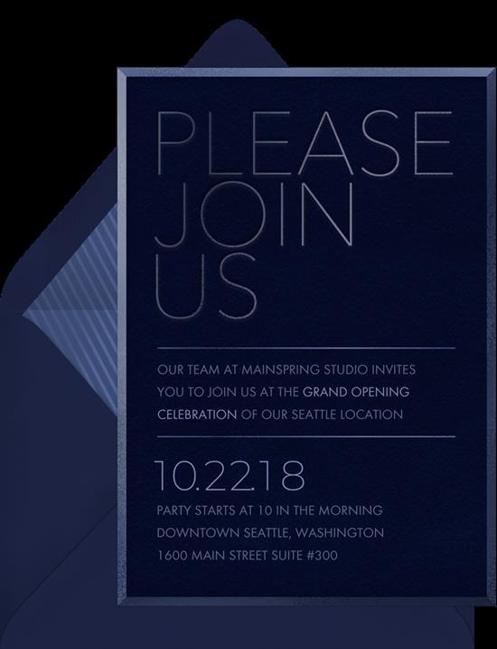 grand opening invitation: Tone on Tone Invitation by Greenvelope