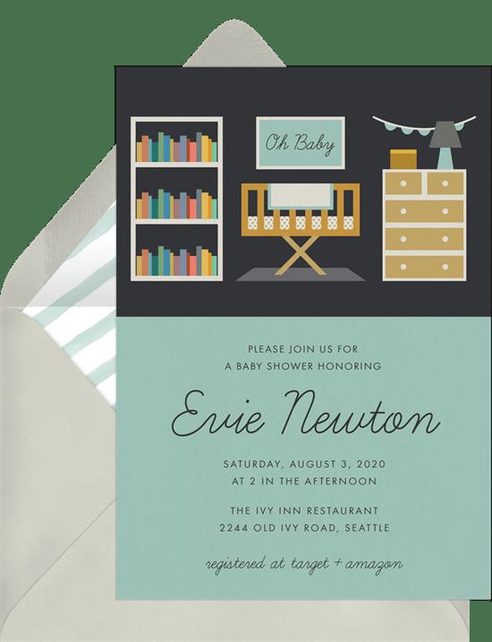 Modern Nursery Invitation from Greenvelope