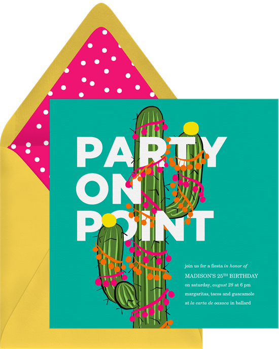 DIY party decorations: Party On Point Invitation by Greenvelope