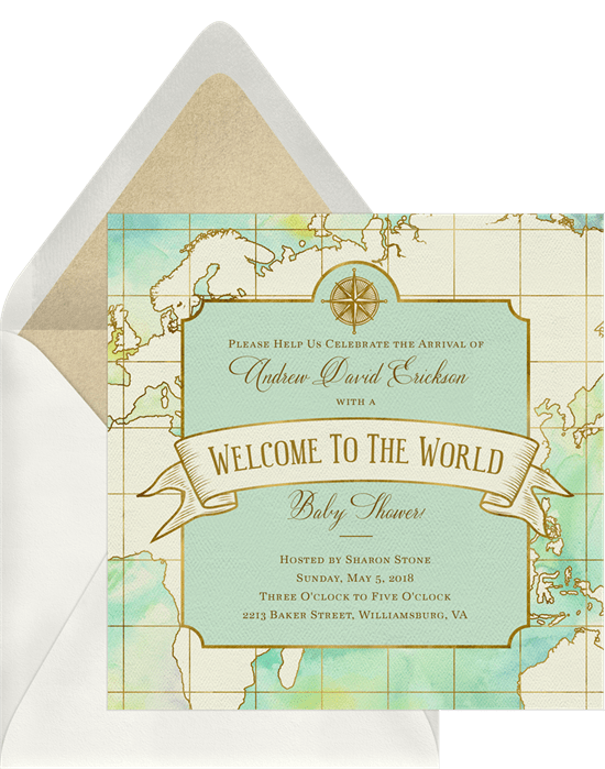Welcome to the World Invitation by Greenvelope