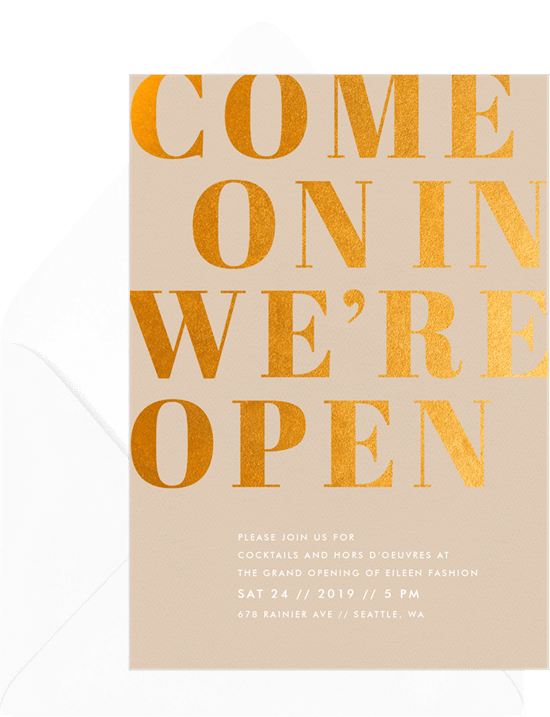 Come On In Card by Greenvelope