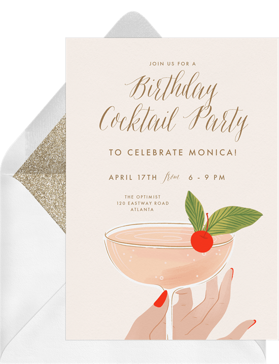 Fancy Cocktail Invitation by Greenvelope