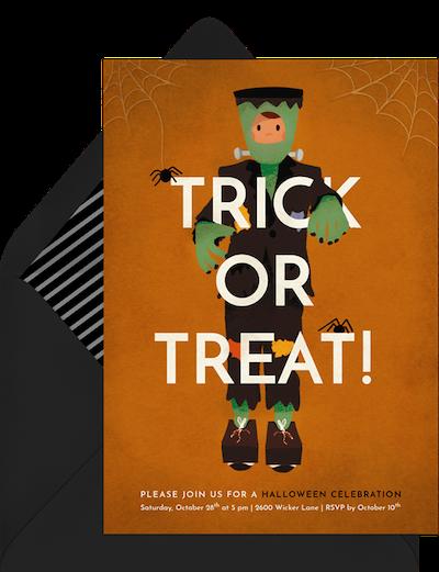Trick or Treat invitation