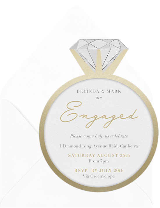 engagement gifts: Put A Ring On It Invitation