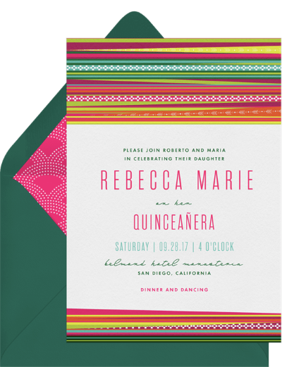 quinceanera gifts: Llama Love Invitation by Greenvelope