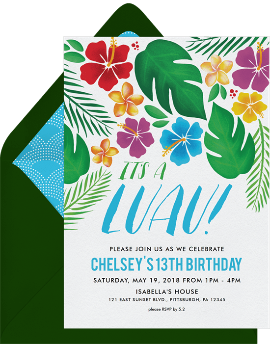 luau party: It's a Luau Invitation from Greenvelope