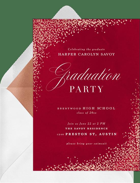 Luxe Confetti Invitation