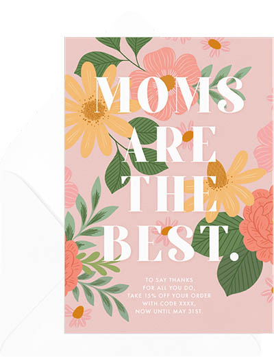 Moms are the best: Mothers day card messages