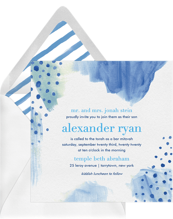 Eagle Scout Invitations: monochromatic watercolor invitations