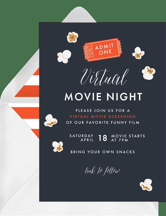 outdoor movie night: Movie Night Classics Invitation from Greenvelope