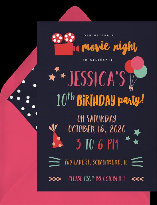 movie night invites: Movie Night Invitation from Greenvelope