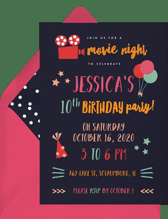Movie Night Invitation from Greenvelope