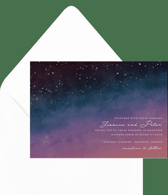 DIY Wedding Invatation: Night Sky Invitation