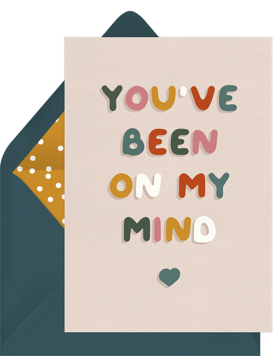 On My Mind Card from Greenvelope