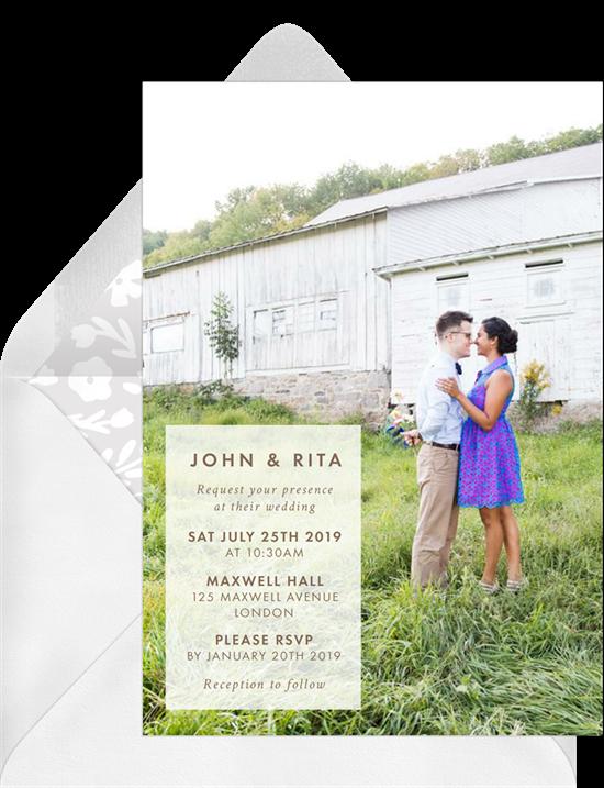brunch wedding: outdoor brunch invitation from Greenvelope