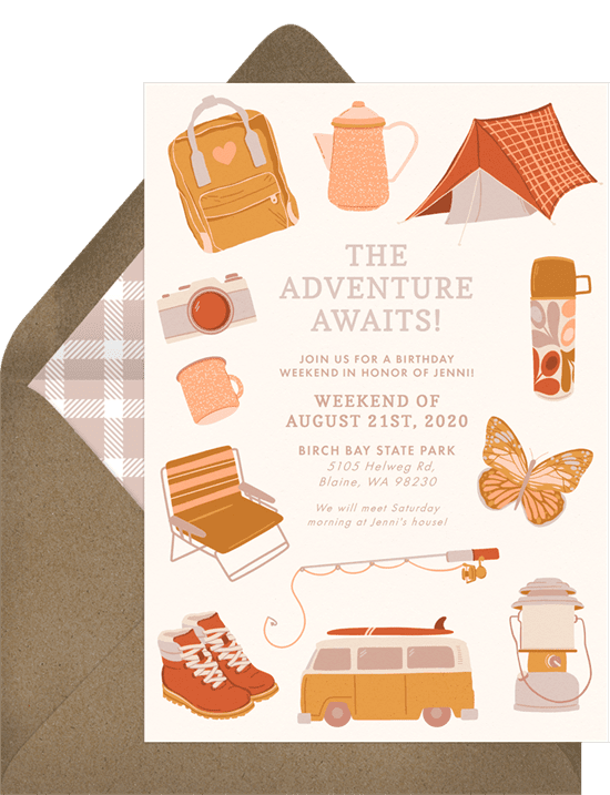Eagle Scout Invitations: Outdoors Adventure Invitation