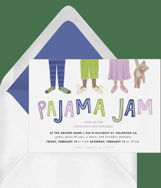 sleepover invitations: Pajama Jam Invitation from Greenvelope