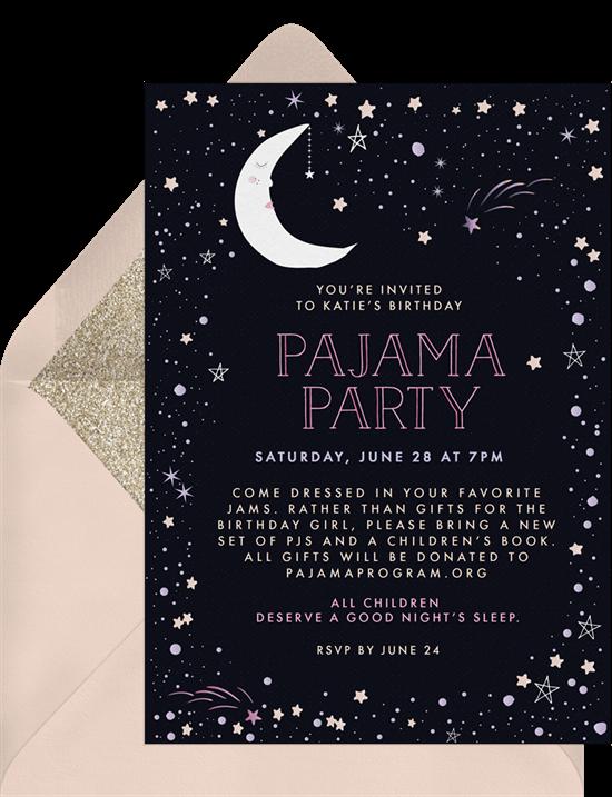 movie night invites: pajama party invitation from Greenvelope