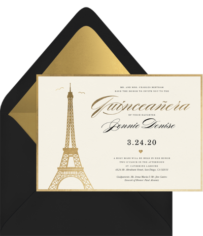 Parisian Quince Invitation by Greenvelope