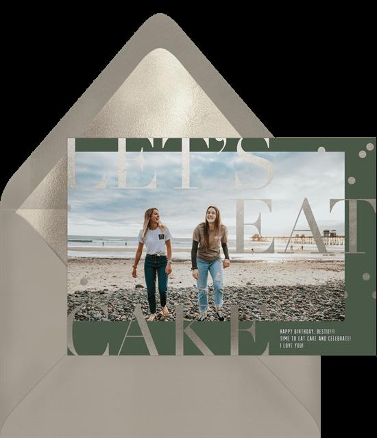 Happy birthday ecard: Two women on the beach