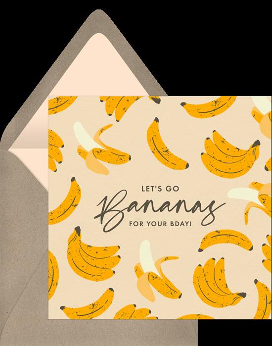 Happy birthday ecard: Things Are Bananas