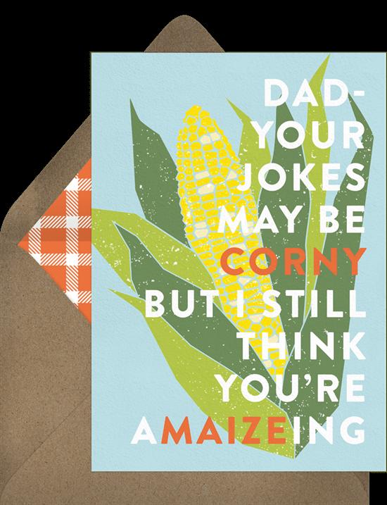 Corny Dad Card
