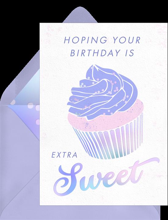 Funny birthday cards: Birthday Sweets Card
