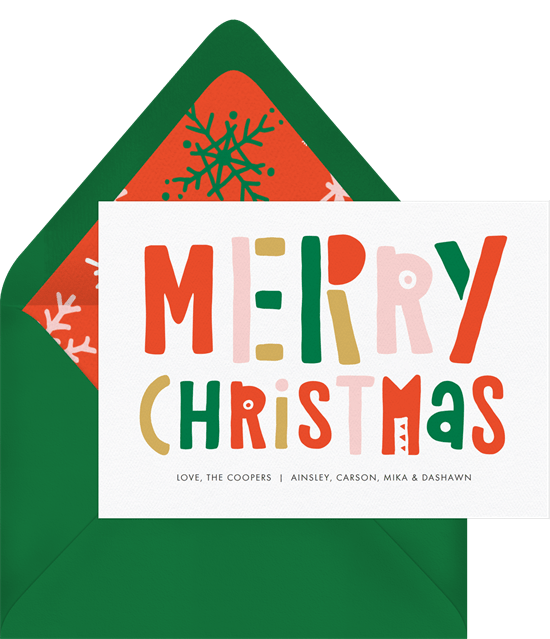 what to write in a christmas card: Christmas card