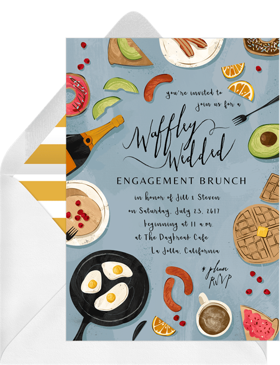Engagement party ideas: Super Glam Brunch invitation style
