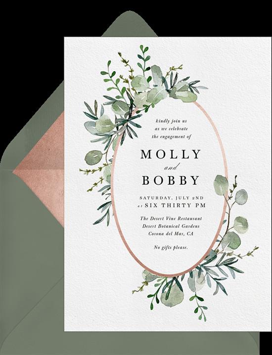 Fairytale Forest simple invitation