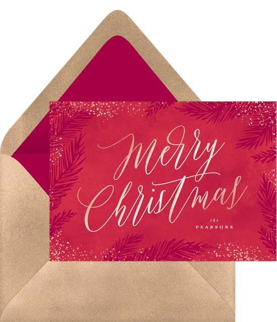 Merry Christmas card wording from Greenvelope