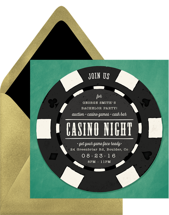 Poker chip invitation