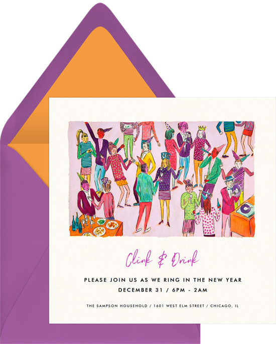 Costume Party New Years Eve party invitation from Greenvelope