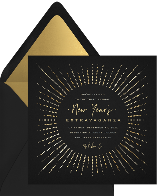 Gatsby Glamour New Years Eve party invitation from Greenvelope