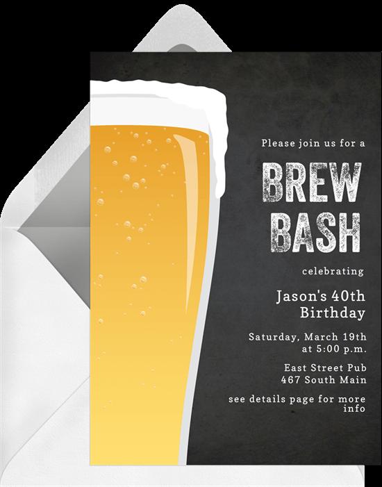 50th birthday party ideas: Brew Bash Invitation by Greenvelope