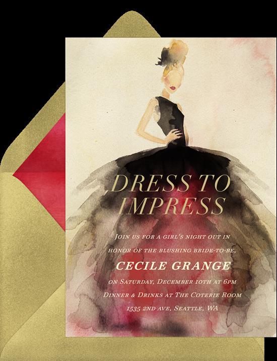 Chic Couture Invitation