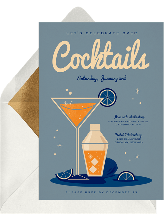 50th birthday party ideas: Cocktail Party invitation by Greenvelope