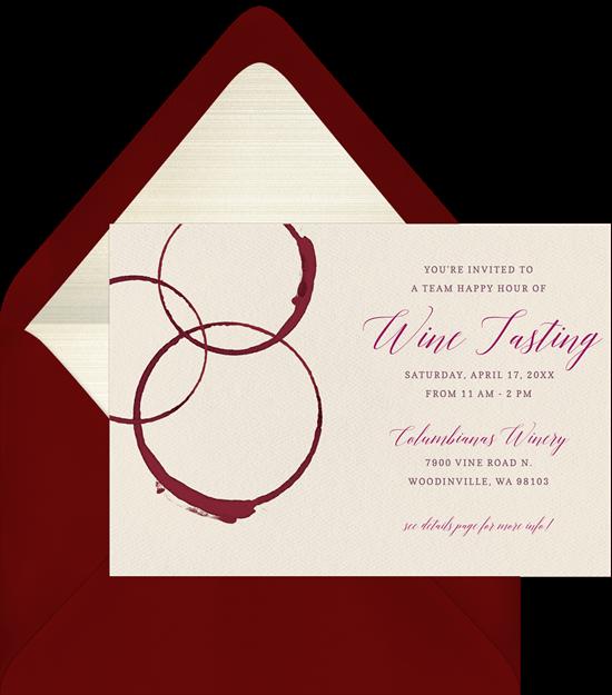 50th birthday party ideas: Wine Tasting invitation by Greenvelope