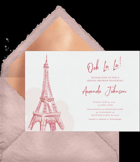Sweet 16 themes: Parisian Romance invitation by Greenvelope
