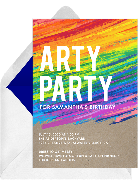 Paint party invitation by Greenvelope